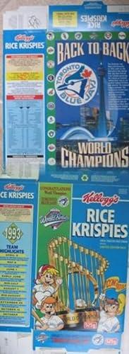 Toronto Blue Jays World Champions - Cereal: Kellogg's Rice Krispies