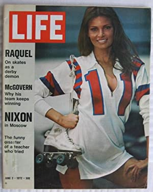 "Life Magazine, June 2 - 1972 -featuring Raquel Welch ""The Kansas City Bomber"" on cover: ..."