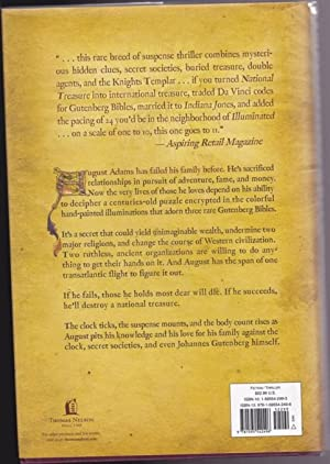 """Illuminated -book (1) one in the """"August Adams"""" sequence (SIGNED) -(by the author of """"..."""