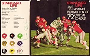 "Canadian Football League 1972 Official Schedule ( Featuring the ""Hamilton Tiger-Cats"" ) -..."