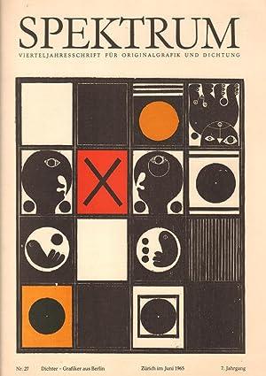 Spektrum. Vierteljahresschrift für Originalgrafik und Dichtung. Nr.: Rellstab, Felix (Hrsg.)