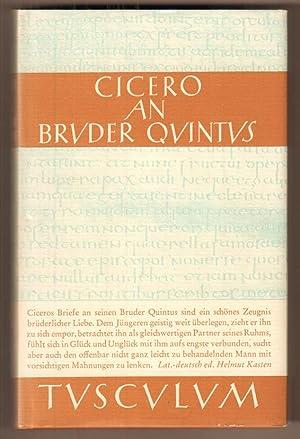 M. Tulli Ciceronis epistulae ad Quintum fratrem,: Cicero, Marcus Tullius: