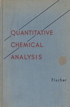 Quantitative Chemical Analysis First Edition  Abebooks