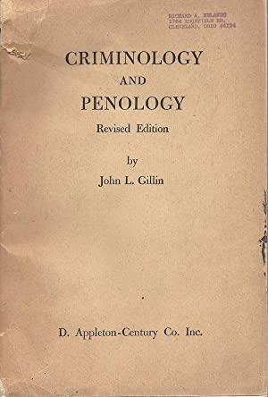 Criminology and Penology: John Lewis Gillin