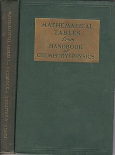 Mathematical Tables: From Handbook of Chemistry and