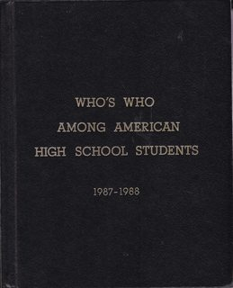 Who's Who Among High School Students, 1987-1988 (22nd Edition Vol. VII only)