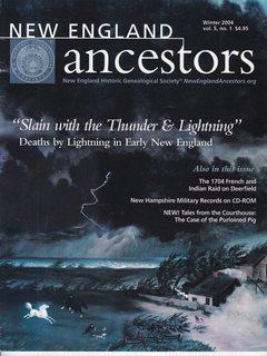 New England Ancestors; Winter 2004 Vol. 5: Lynn Betlock (Editor)