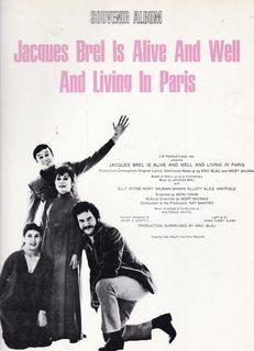 Souvenir Voice/Piano Album, JACQUES BREL IS ALIVE: Brel, Jacques