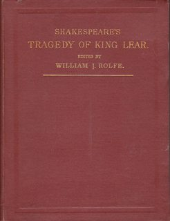 Shakespeare's Tragedy of King Lear: Shakespeare, William; William