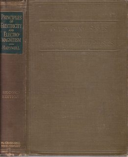 Principles of Electricity & Electromagnetism,: Harnwell, Gaylord P.