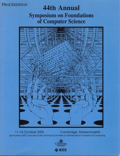 44th Symposium On Foundations Of Computer Science Focs 2003