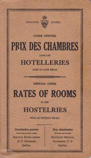 Province Quebec: Guide Officiel Prix Des Chambres: Editorial Staff