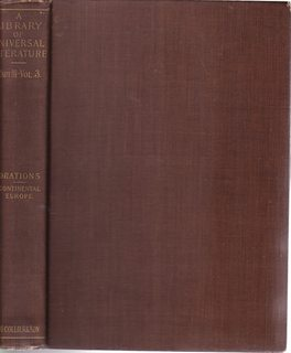 ORATORS OF CONTINENTAL EUROPE A LIBRARY OF: SON, P.F. COLLIER