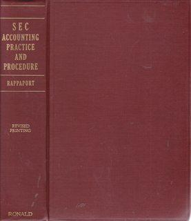 SEC accounting practice and procedure