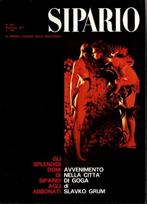 SIPARIO. RIVISTA DI TEATRO, SCENOGRAFIA, CINEMA, BALLETTO, TV. Nº 307.