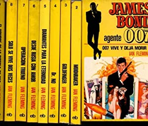 JAMES BOND. AGENTE 007. 1. 007 VIVE Y DEJA MORIR. 2. MOONRAKER. 3. GOLDFINGER. 4. DR. NO. 5. DIAM...