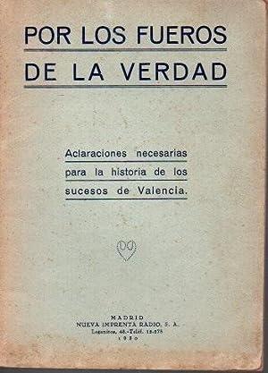 POR LOS FUEROS DE LA VERDAD. ACLARACIONES: FARFAN, Gerardo. GONZALEZ