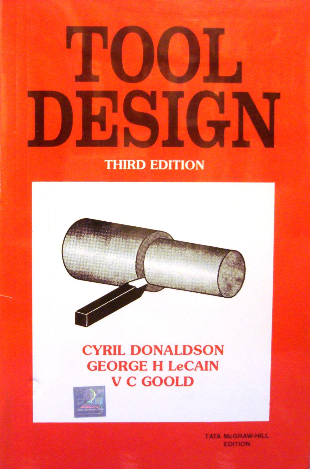 Book Cover Design Tool : Tool design by donaldson lecain goold mcgraw hill