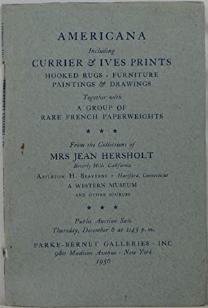 Americana Including Currier & Ives Prints, Hooked