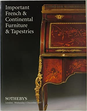 Catalogue Important French Furniture Clocks Works Art Tapestries