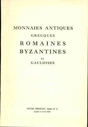 Monnaies antiques Grecques Romaines Byzantines et Gauloises: Collectif