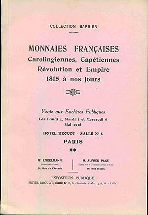 Collection Barbier . Monnaies Françaises Carolingiennes,Capétiennes Révolution: Collectif