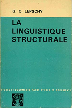 La Linguistique structurale