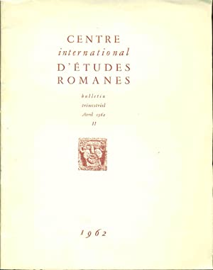 Centre International d'Etudes Romanes Bulletin trimestriel II