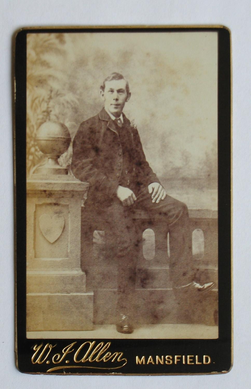 Carte De Visite Photograph Studio Portrait Of Young Man