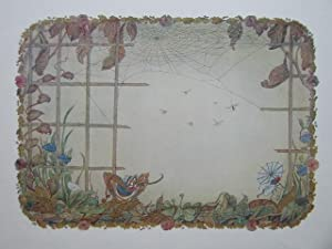 The Spider And The Fly.: Vintage Colour Print.