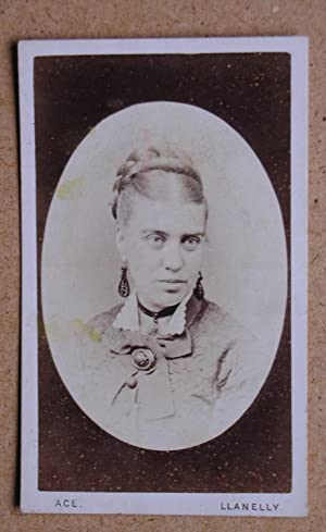 Carte De Visite Photograph. Portrait of a Woman.