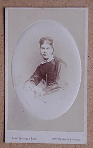 Carte De Visite Photograph. Studio Portrait of: John Burton &