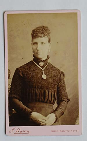 Carte De Visite Photograph. Portrait of a Young Woman.