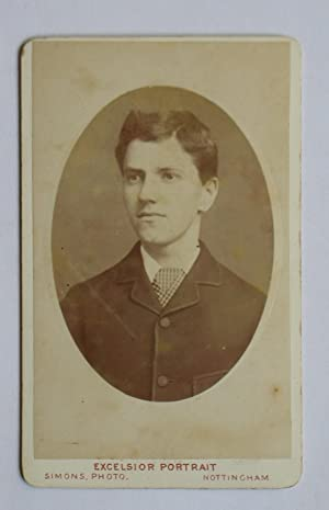 Carte De Visite Photograph. Portrait of a: J. T. Simons.