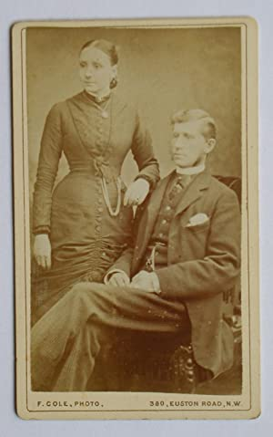 Carte De Visite Photograph: Portrait of a Husband & Wife.