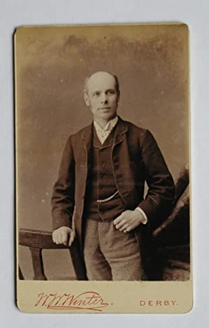 Carte De Visite Photograph. Studio Portrait of a Gentleman.
