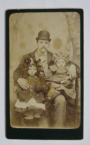 Carte De Visite Photograph. A Lovely Portrait of a Father & His Two Young Children.: Antill's ...