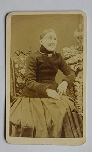 Carte De Visite Photograph. Studio Portrait of an Elderly Woman.