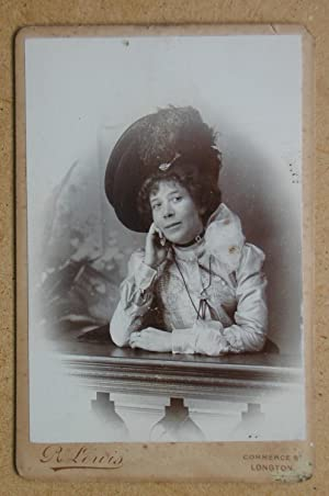 Cabinet Photograph: Studio Portrait of a Woman Wearing a Fine Hat.