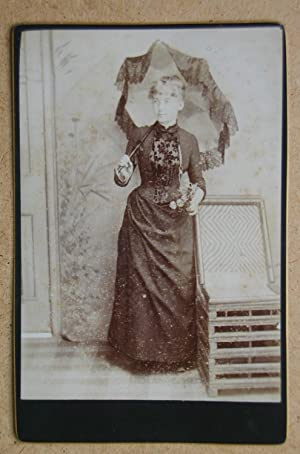 Cabinet Photograph: Portrait of a Young Woman with a Parasol.