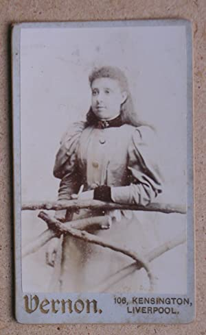Carte De Visite Photograph. Studio Portrait of a Young Woman.