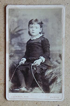 Carte De Visite: Studio Portrait of a Child with a Skipping Rope.