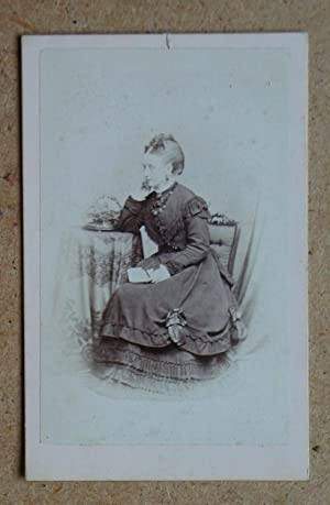Carte De Visite: Portrait of a Seated Young Lady in a Fine Dress.