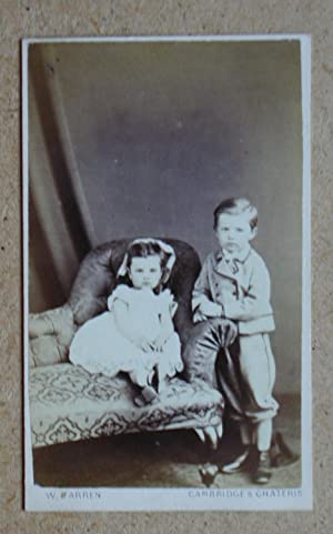 Carte De Visite Photograph: An Attractive Studio Portrait of a Young Brother & Sister.