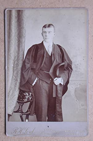 Cabinet Photograph: A Portrait of a Student with Cloak & Cap.