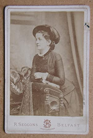 Cabinet Photograph: A Studio Portrait of a Young Woman with a Hat.