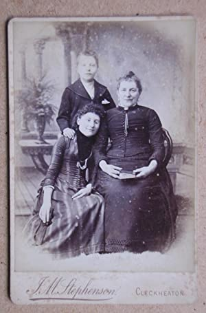 Cabinet Photograph: A Studio Portrait of a Mother & Children.