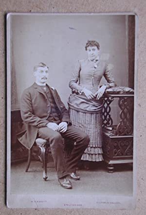 Cabinet Photograph: A Studio Portrait of a Husband & Wife.