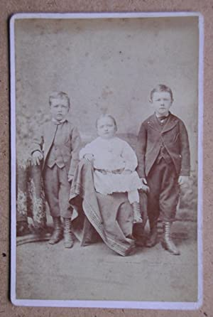 Cabinet Photograph: A Studio Portrait of Three Young Children.