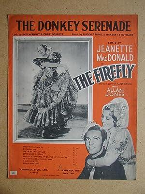 The Donkey Serenade.: Wright, Bob & Chet Forrest. Lyrics By. Music By Rudolf Friml & Herbert ...